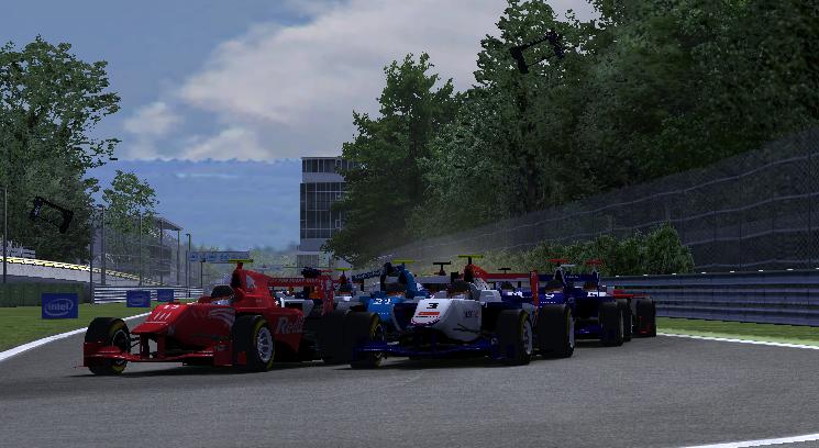 The lap 3 incident at the Variante del Rettifilio