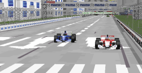 A Sauber and a Theodore battling for a podium, proving that the power balance in F1 has changed.