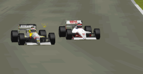 Nicola Larini fighting against Brendon Cassidy was just one of the unusual battles the unique grid enabled us to see.