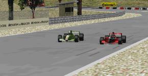Battling with J. R. Hildebrand for position was not in Vettel's plan for the first Jordan GP.