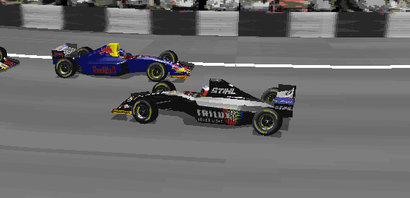 Dean Stoneman having to look at the Red Bulls barely missing his cars represent a chaotic race perfectly.